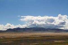 La montagna nel Tibet Fotografie Stock