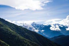 La montagna nevosa di Meili Immagine Stock Libera da Diritti