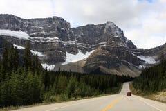 La montagna rocciosa canadese Fotografie Stock Libere da Diritti