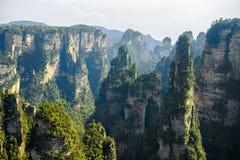 La montagna spettacolare di hallelujah dell'avatar fotografia stock