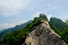 La montagna stretta Ridge Fotografie Stock