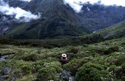 La montagna trascura Fotografia Stock