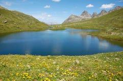 la montagne de lac scheidseen Photographie stock