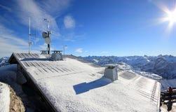 La montagne de Nebelhorn en hiver Alpes, Allemagne images stock