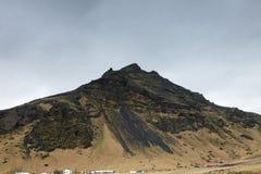 La montagne majestueuse d'Eyjafjoll en Islande image stock