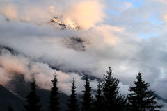 La montagne suisse Eiger dans le soleil de soirée Photo stock