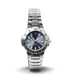 La montre-bracelet des hommes d'isolement image stock