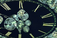 La montre de cru partie le fond abstrait Photo libre de droits