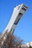 La Montreal el estadio Olímpico y torre Imagen de archivo