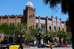 La monumentala - tjurfäktningarenan - Barcelona Royaltyfri Fotografi