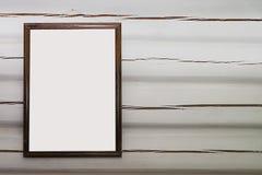 La moquerie du cadre d'affiche sur le mur Photos libres de droits