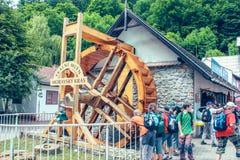 La Moravia controllo Repubblica giugno 2010, sistema del sud della caverna di morfologia carsica di Moravian, vicino alla città B immagine stock