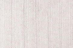 La morbidezza bianca ha tricottato la struttura del tessuto con il wale delle strisce fotografie stock libere da diritti