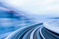 La morbidezza ha offuscato il treno commovente di moto Fotografie Stock Libere da Diritti