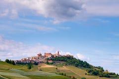La Morra Langhe, Piemonte, Itali?, Unesco-erfenis wijnbouw stock foto's