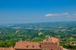 La Morra, Piamonte, Italia En julio de 2018 foto de archivo