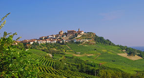 La Morra in Piedmont. Wine Village of La Morra in Piedmont,Italy Royalty Free Stock Image