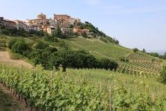 La Morra in Piedmont. Italy Stock Photography