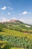 La Morra in Piedmont stock images
