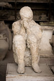La mort à Pompeii image libre de droits