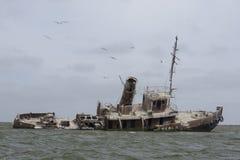 La mort d'un bateau Image libre de droits