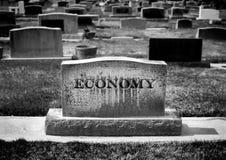 La mort de l'économie photographie stock