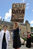 La mort de l'évidence mars à Ottawa photographie stock libre de droits