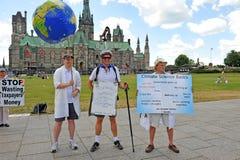 La mort de l'évidence mars à Ottawa images stock