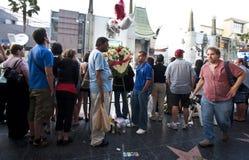 La mort de Michael Jackson de première de film de Bruno Images stock