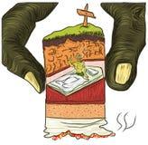 La mort de tabagisme de fantôme tiré par la main Illustration Libre de Droits