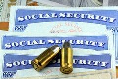 La mort des prestations de sécurité sociale Photo stock