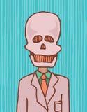 La mort est un homme d'affaires/crâne drôle illustration de vecteur
