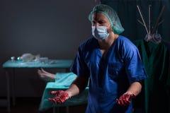 La mort par erreur médicale Images libres de droits