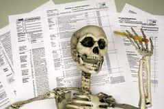 La mort par Taxes Image libre de droits