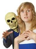 La mort terrible est venue jeune femme Image stock