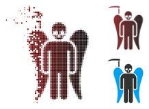 La mort tramée Angel Icon de faux de pixel mobile illustration libre de droits