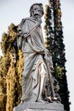 La morte bendata della Morte ha personificato la statua su un backg immagine stock libera da diritti