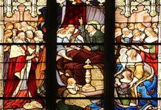 La morte di Louis XIII in presenza di Saint-Vincent de Paul, di Anne dell'Austria, dei Luigi XIV futuri e del cardinale Mazarin fotografia stock libera da diritti