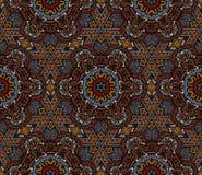 La mosaïque abstraite a couvert de tuiles le motif Image stock