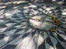 La mosaïque d'imagination à la fraise a classé, Central Park Photos libres de droits
