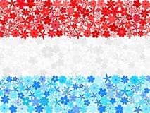 La mosaïque florale Luxembourg diminuent illustration libre de droits