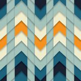 La mosaïque géométrique de zigzag d'abrégé sur sans couture modèle a couvert de tuiles le vecteur de fond Images stock