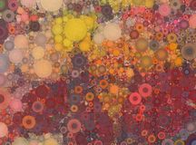 La mosaïque jaune et orange rouge abstraite a repéré le fond Image stock