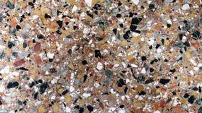 La mosaïque multicolore a poli le plancher de beaucoup de morceaux de sto de couleur Image libre de droits