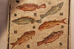 La mosaïque romaine antique dans Roman Museum national, romain, Italie image stock