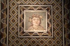 La mosaïque romaine antique dans Roman Museum national, romain, Italie photo libre de droits