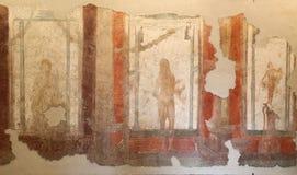 La mosaïque romaine antique dans Roman Museum national, romain, Italie images libres de droits