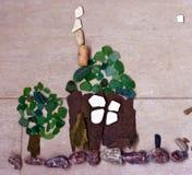 La mosaïque sous forme de maison Images stock