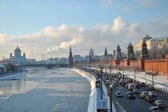 La Moscú Kremlin en invierno Fotografía de archivo libre de regalías
