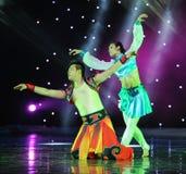 La mosca dell'aquila---Danza popolare della Mongolia Fotografia Stock Libera da Diritti